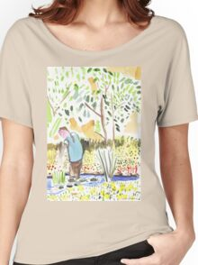 The Council Worker Clearing the Pond Women's Relaxed Fit T-Shirt