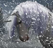 unicorn in the snow by Declan Carr