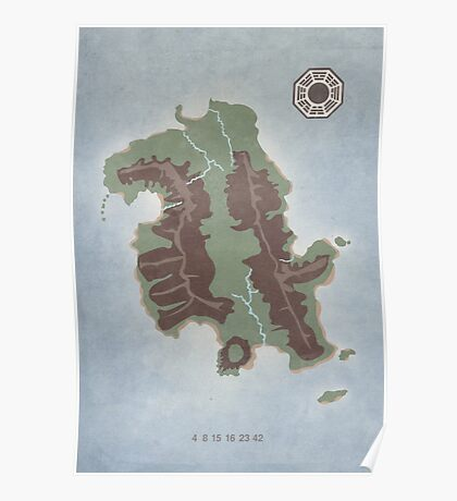Lost Island Dharma Poster
