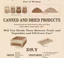 United States Department of Agriculture Poster 0269 Women of the Home Now is the Time to Do Your Bit Canned and Dried Products by wetdryvac