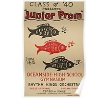 WPA United States Government Work Project Administration Poster 0617 Junior Prom Rhythm Kings Orchestra Poster