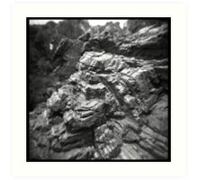 Stripey rocks Art Print