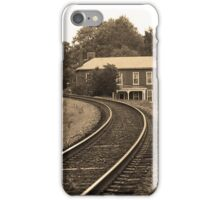 Jonesborough, Tennessee - Curved Train Tracks iPhone Case/Skin