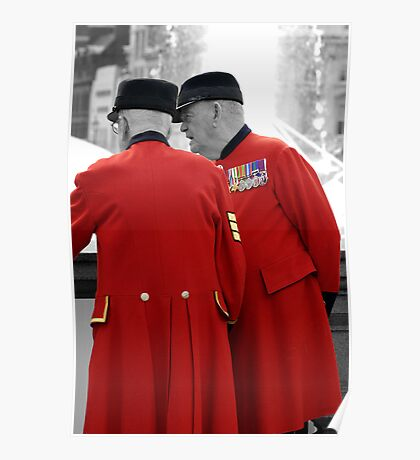 Chelsea Pensioners in London Poster