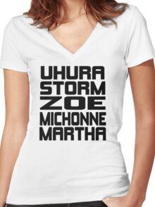 Black Women of Sci Fi Women's Fitted V-Neck T-Shirt