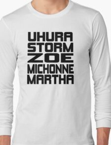 Black Women of Sci Fi Long Sleeve T-Shirt