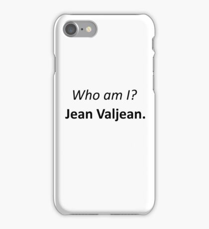 Jean Valjean iPhone Case/Skin