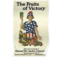 United States Department of Agriculture Poster 0094 Fruits of Victory National War Garden Commission Poster