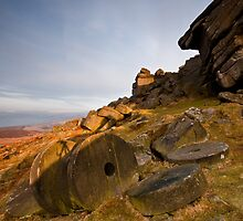 Stanage Edge Millstones Portrait by James Grant