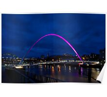 The Tyne at Twilight Poster