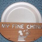 Fine china paper plate holder by FineCrafts