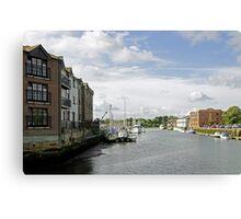 Newport Harbour, IOW Canvas Print