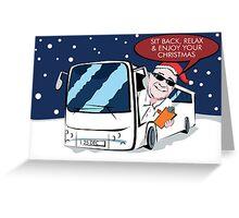 Coach Trip Christmas Card Greeting Card