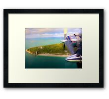 Over Cape Florida Framed Print