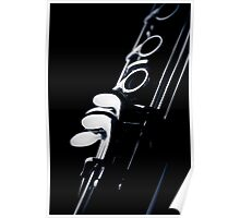 Clarinet detail blue III Poster