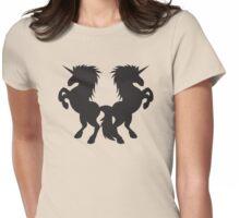 Rearing unicorns Womens Fitted T-Shirt