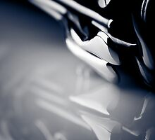 Clarinet detail blue VII by sustine