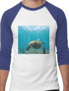Honu - Turtle Summer  Men's Baseball ¾ T-Shirt