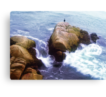 on the rocky shore you will find her.. still waiting for his return Canvas Print