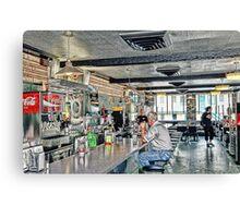Inside a classic diner in rural America Canvas Print