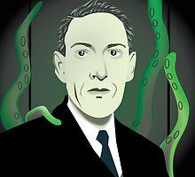 H.P. Lovecraft by thren0dy