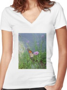 Blurred - Caught in Motion Women's Fitted V-Neck T-Shirt