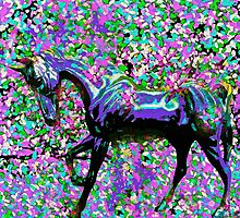 Horse Among the Petals by Saundra Myles