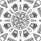 Food Mandala (Color It Yourself) by SarahBelham