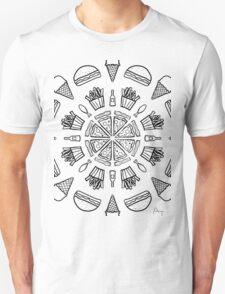 Food Mandala (Color It Yourself) Unisex T-Shirt