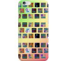 A-Z animals keyboard iPhone Case/Skin