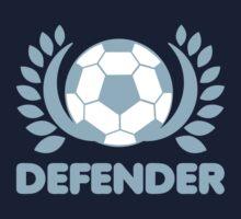 DEFENDER soccer ball wreath One Piece - Short Sleeve