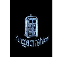 Get to the Tardis! Photographic Print