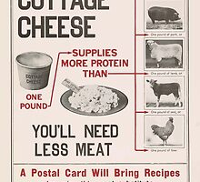 United States Department of Agriculture Poster 0138 Eat More Cottage Cheese You'll Need Less Meat by wetdryvac