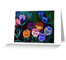 Alice in Wonderland Flowers Greeting Card