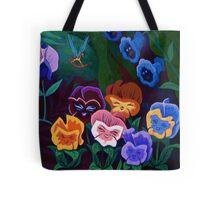 Alice in Wonderland Flowers Tote Bag