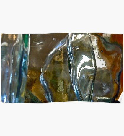 Abstract In Glass Poster