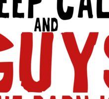 The Walking Dead Glenn Rhee Zombie Typography Sticker