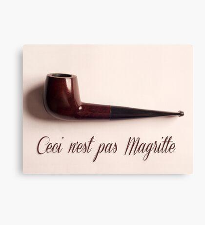 Ceci n'est pas Magritte - pipe Canvas Print