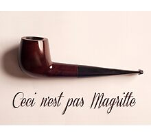 Ceci n'est pas Magritte - pipe Photographic Print