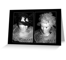 Tulle hats and collars - BW Greeting Card