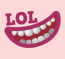 LOL laugh out loud smiling teeth Kids Clothes