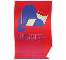 WPA United States Government Work Project Administration Poster 0319 Russian Symphony Series Federal Music Theatre Poster