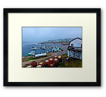 Nova Scotia Harbor Framed Print