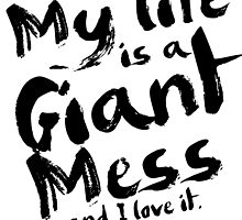Andy Dwyer My Life is a Giant Mess Parks and Recreation by geekchicprints