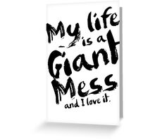 Andy Dwyer My Life is a Giant Mess Parks and Recreation Greeting Card
