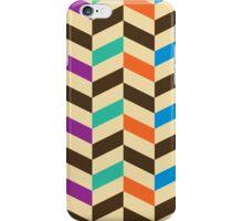 Colorful Modern Geometric Herringbone Pattern iPhone Case/Skin