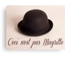 Ceci n'est pas Magritte - chapeau Canvas Print