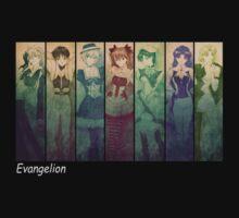 neon genesis evangelion rei ayanami asuka soryu anime manga shirt by ToDum2Lov3
