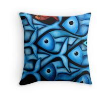 Blue Fish 2 Throw Pillow