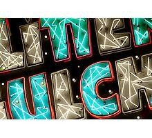 Neon Glitter Photographic Print